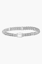 Lagos Caviar Rope Station Bracelet Sterling Silver