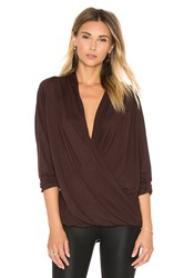 David Lerner Criss Cross Wrap Tee Wine