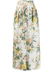Zimmermann Floral Print Culotte Trousers White