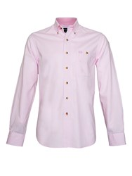 Raging Bull Plain Long Sleeve Button Down Shirt Pink