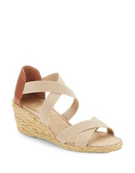 Lauren Ralph Lauren Cortney Espadrilles Wedge Sandals Beige