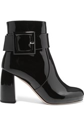 Miu Miu Patent Leather Ankle Boots Black