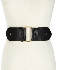 Inc International Concepts I.N.C. O Ring Stretch Belt Black Gold