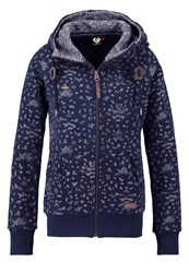 Ragwear Tracksuit Top Navy Mottled Dark Blue