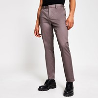 River Island Purple Dylan Slim Fit Chino Trousers