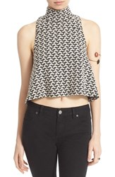 Women's Free People 'Ski Slope' Print Crop Turtleneck Tank