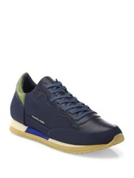 Philippe Model Bright Leather Sneakers Navy