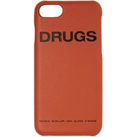 Raf Simons Orange 'Drugs' Iphone 7 Case