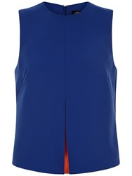 Jaeger Peakaboo Seam Detail Top Blue