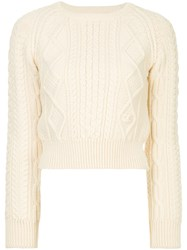 Chanel Vintage Multi Patterned Cropped Jumper White