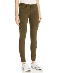Blank Nyc Blanknyc Side Zip Skinny Jeans In Olive
