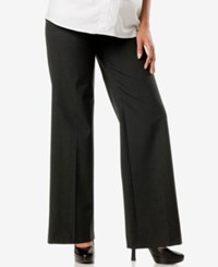 A Pea In The Pod Maternity Wide Leg Dress Pants Dark Grey