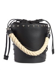 J.W.Anderson Bucket Stud Embellished Leather Tote Black