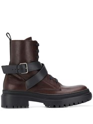 Brunello Cucinelli Buckled Ankle Boots Brown