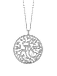 Morris And David Diamond 14K White Gold Pendant Necklace 1.5 Tcw
