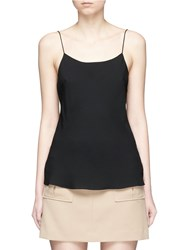 Theory 'Teah' Silk Georgette Camisole Black