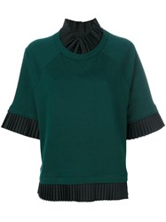 Maison Martin Margiela Mm6 Short Sleeve Knitted Jumper Women Cotton S Green