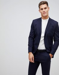 Selected Homme Suit Jacket With Stretch In Slim Fit Navy Blazer