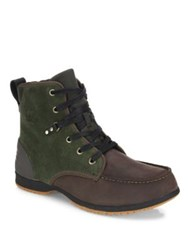 Sorel Ankeny Suede And Leather Ankle Boots Peat Moss