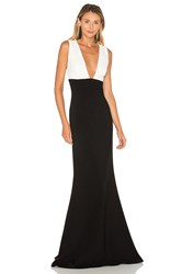 Jill Stuart Colorblock Gown Black And White