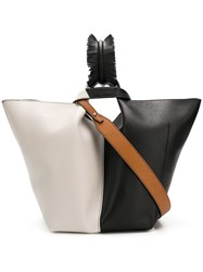 Elena Ghisellini Bicolour Shopper Tote Black