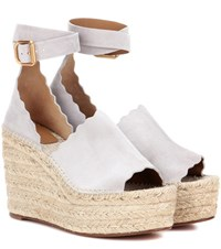 Chloe Lauren Wedge Espadrilles Grey