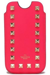 Valentino Rockstud Leather Iphone 5 Case Bright Pink