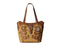 American West Shady Cove Convertible Tote Honey Golden Tan Tote Handbags Brown