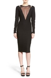 Women's Missguided Mesh Plunge Body Con Dress