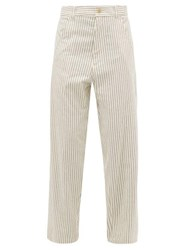 Haider Ackermann Chanda Striped Cotton Trousers White Multi