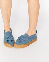 Asos Dolly Bow Trainers Blue