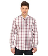 Quiksilver Everyday Check Long Sleeve Everyday Check Plum Wine Men's Clothing White