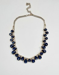 Coast Tear Drop Necklace Navy