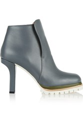 Marni Leather Ankle Boots Anthracite
