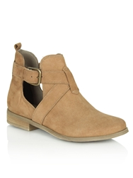 Daniel East Street Cut Out Side Ankle Boots Brown