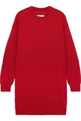 Maison Martin Margiela Mm6 Oversized Jersey Dress Crimson