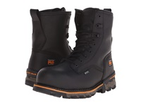 Timberland 8 Boondock Plain Toe Composite Safety Toe Waterproof Black Smooth Leather Men's Work Boots