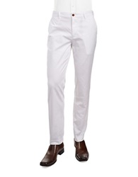 Brooks Brothers Red Fleece Solid Chino Pants White