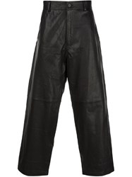 Haider Ackermann Baggy Leather Trousers Black