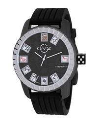 Gv2 48Mm Lucky 7 Men's Automatic Watch W Playing Card Detail Black
