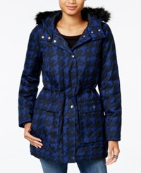 Tommy Hilfiger Hooded Printed Faux Fur Trim Parka Only At Macy's Surf The Web Print