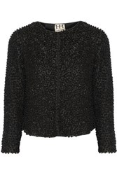 Haute Hippie Beaded Mesh Jacket Black