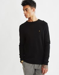 Farah Rosecroft Knit Jumper Black