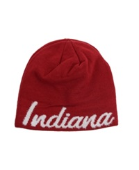 Adidas Women's Indiana Hoosiers Script Knit Hat Red White