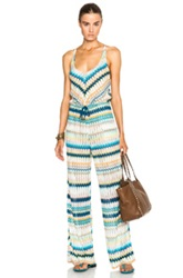 Missoni Mare Jumpsuit In Stripes Abstract Blue