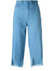 Marques Almeida Cropped Jeans Blue