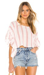 Bcbgeneration Rectangle Ruffle Sleeve Top In White. Optic White