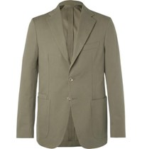 Drakes Green Easyday Cotton Canvas Suit Jacket
