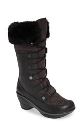 Jambu Cruiser Faux Fur Trim Boot Black Leather