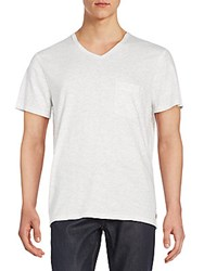 7 For All Mankind Heathered V Neck Tee White